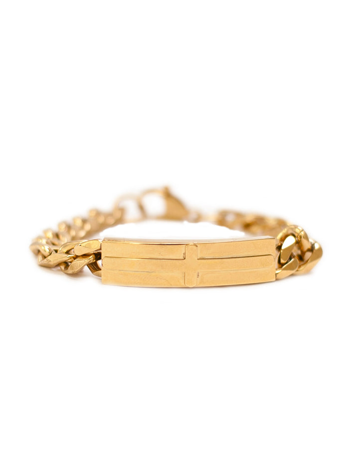 Gold Cross Bracelet - Stainless Steel