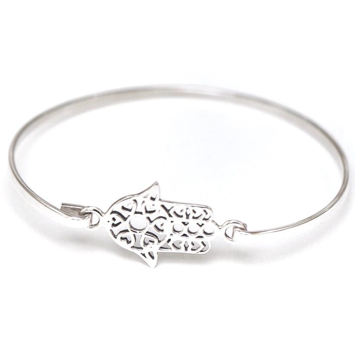Hamsa Bangle - Shémoni Jewelry