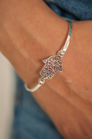 Hamsa Bangle - Shemoni Jewelry