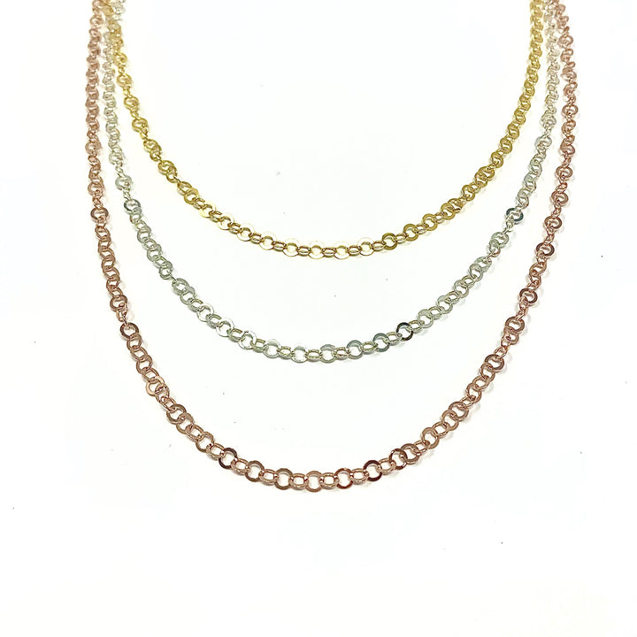 Layered Link Necklace - Shemoni Jewelry