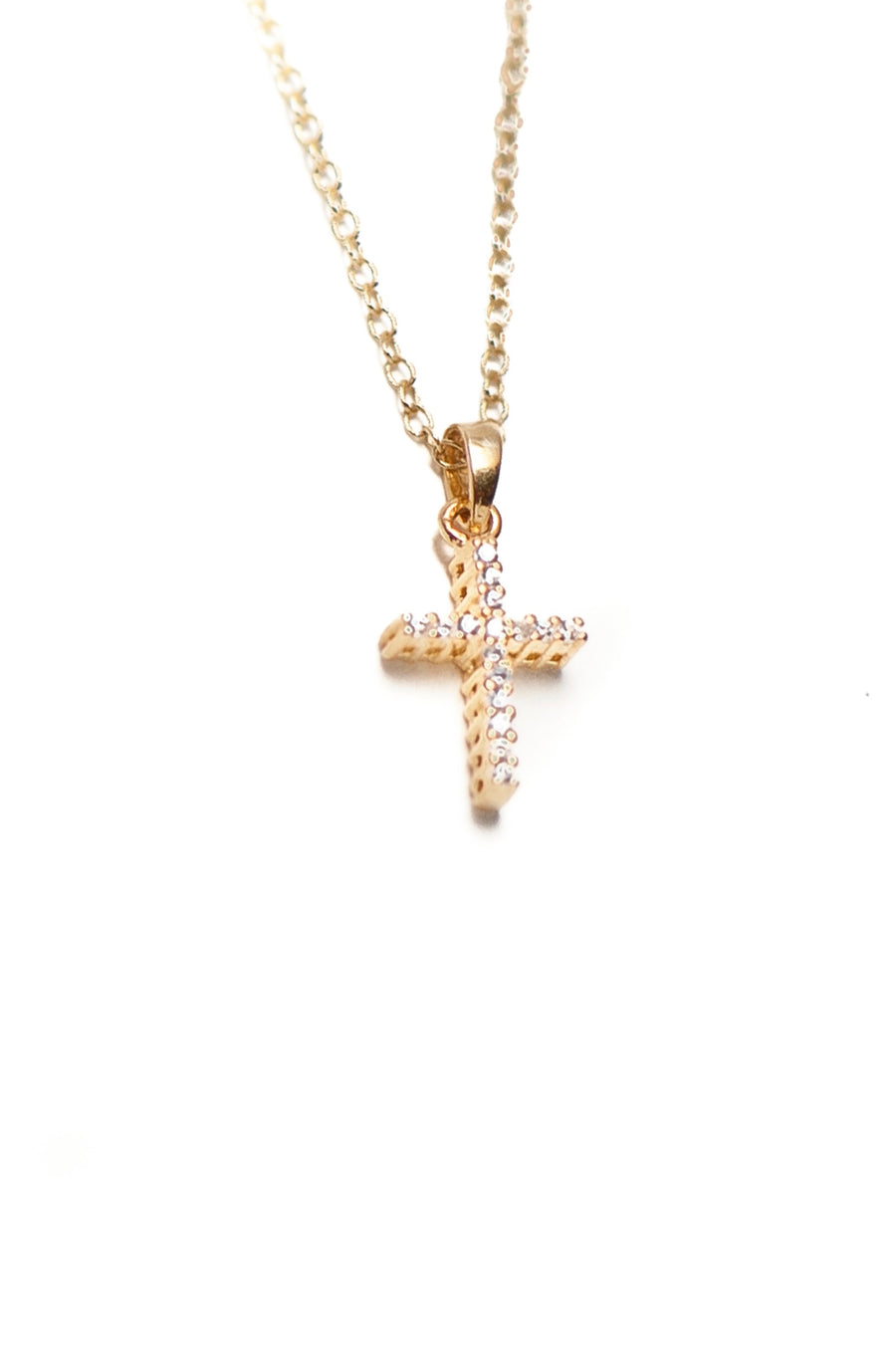 Mini Cross Necklace - Sterling Silver