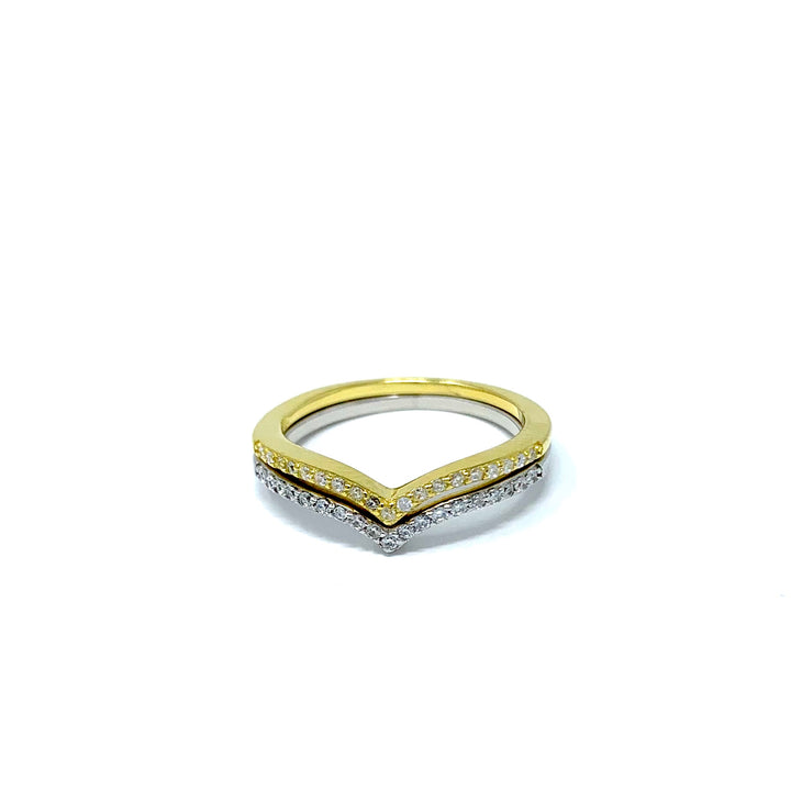 V-Shaped Ring - Shemoni Jewelry
