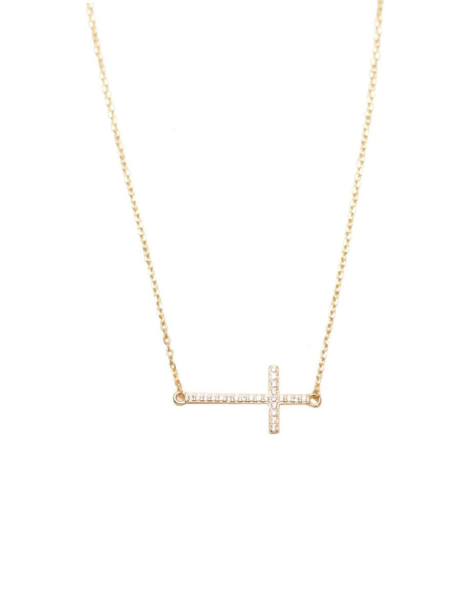 Zirconia Cross Necklace