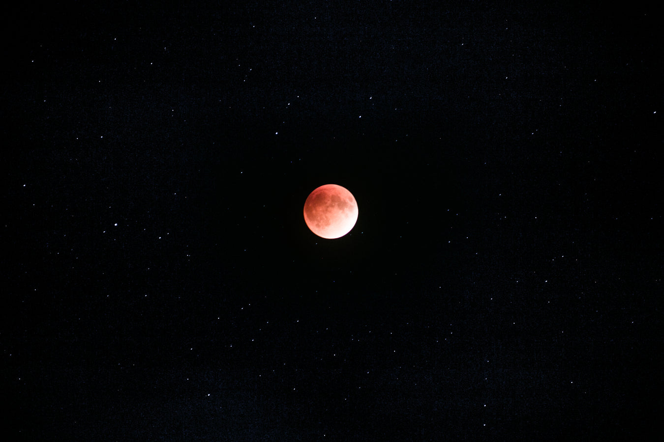 red moon in space