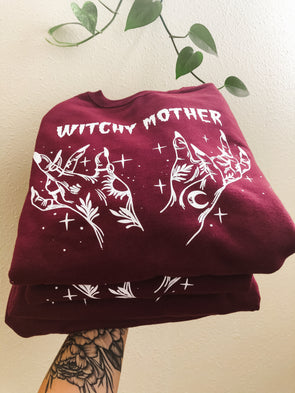 Witchy Mother - Maroon Sweatshirt
