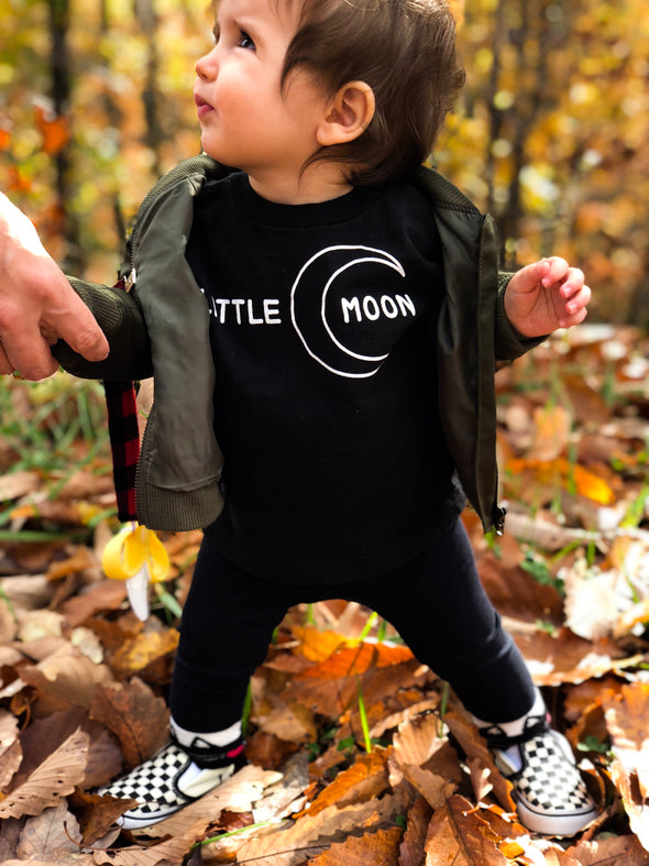 little moon kids tee with moon graphic
