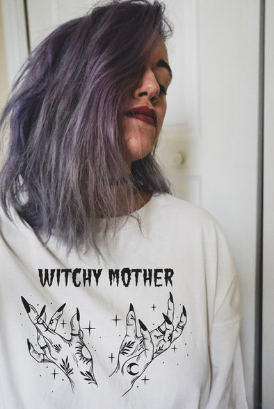 (PRE-ORDER) Witchy Mother - Oversized Shirt - Almond Cream