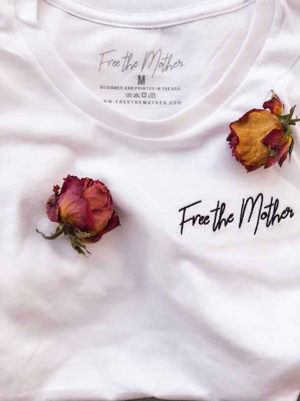 Free the Mother - Women's Embroidered Crew Neck