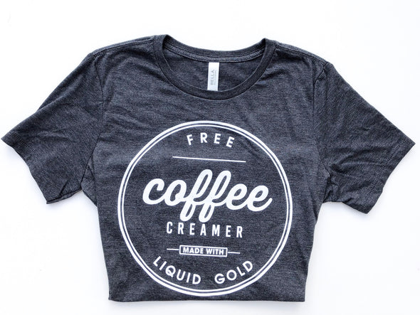 coffee creamer breast feeding tee