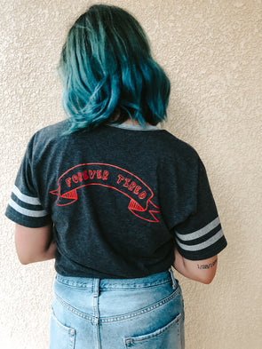 President of the Forever Tired Club - Varsity Ringer Tee