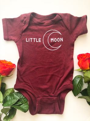 Little Moon - Onesie - Maroon