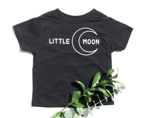 Kids little moon tee with moon graphic