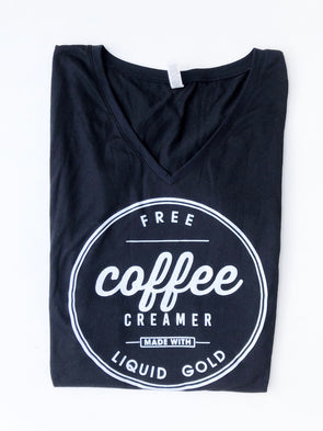 Free Coffee Creamer Made With Liquid Gold - V-Neck