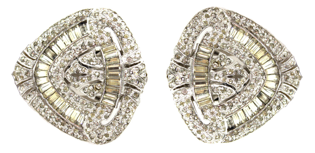 1930'S MAZER PAVE DRESS CLIPS