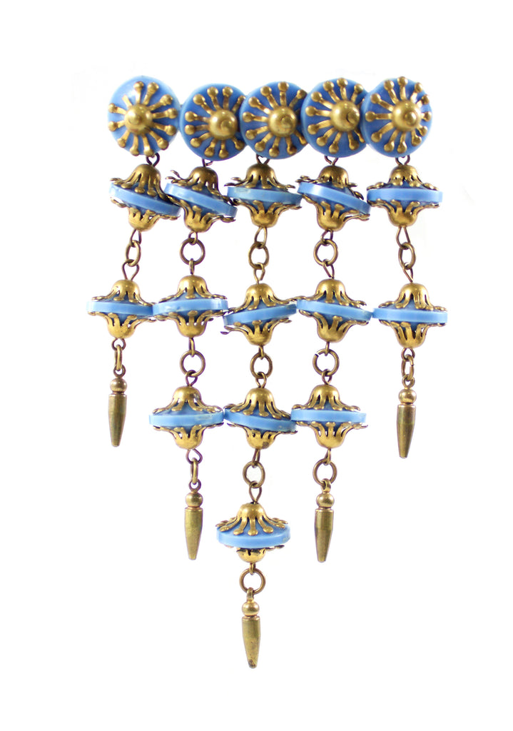 Miriam Haskell Blue Drop Brooch