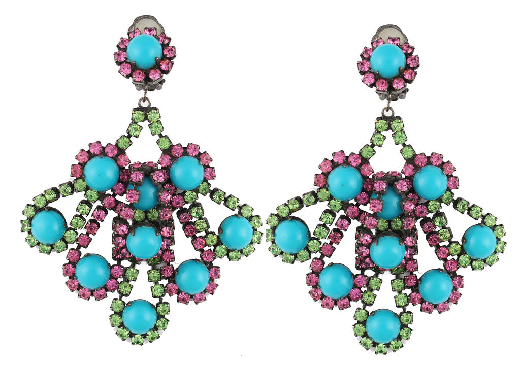 1960'S KJL TURQUOISE EARRINGS