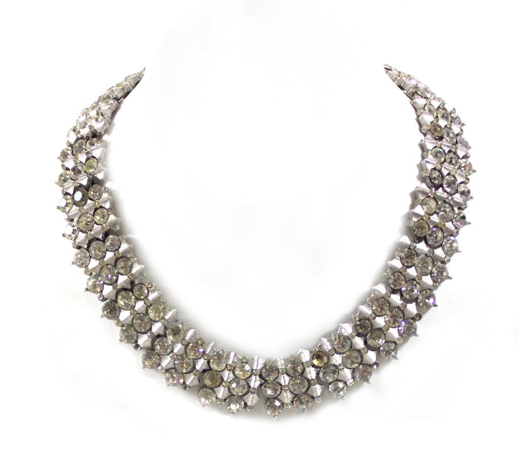 Trifari Diamante Necklace