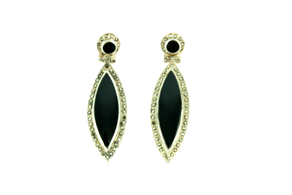 Black Marcasite Earrings
