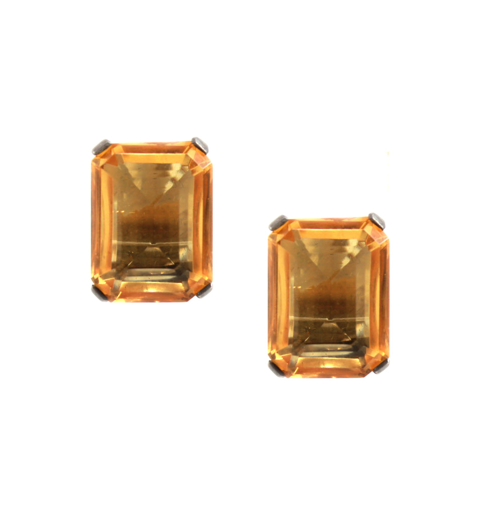 1950S TOPAZ EARRINGS