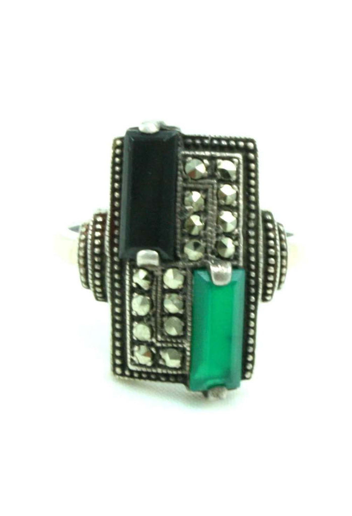 ART DECO MARCASITE RING