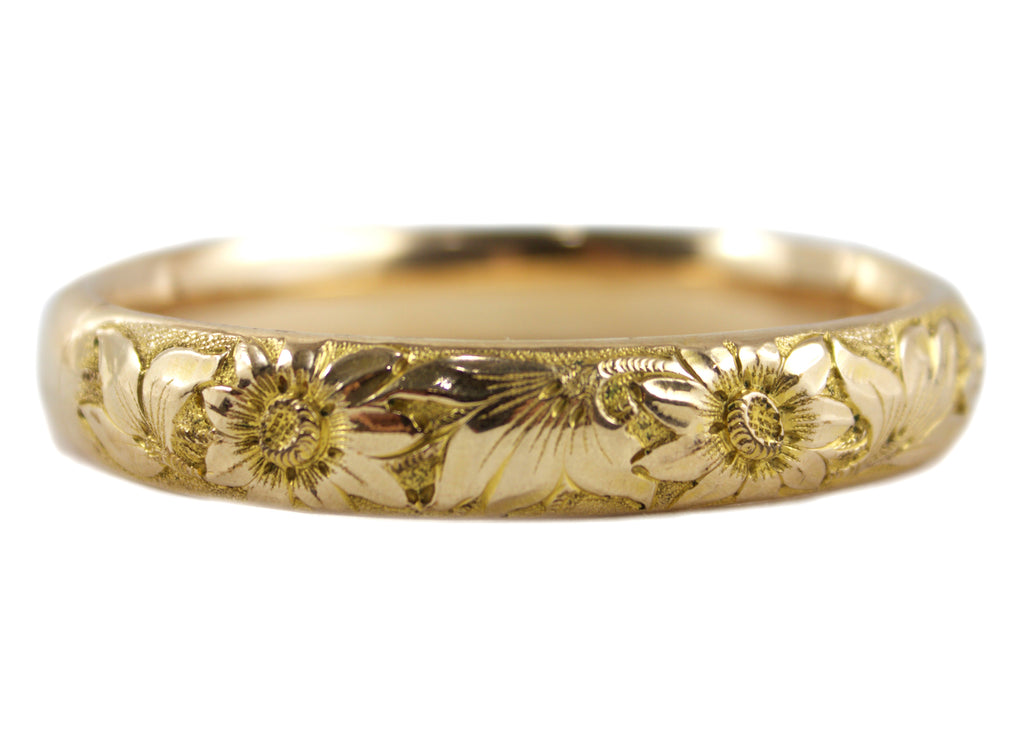 1920S GOLD FLORAL BANGLE