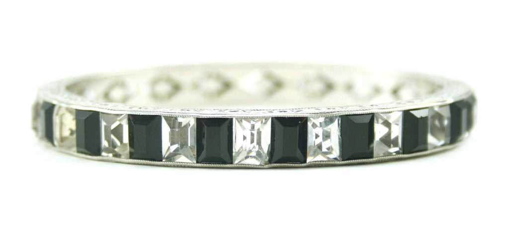 1930S BLACK CHANNEL SET BRACELET