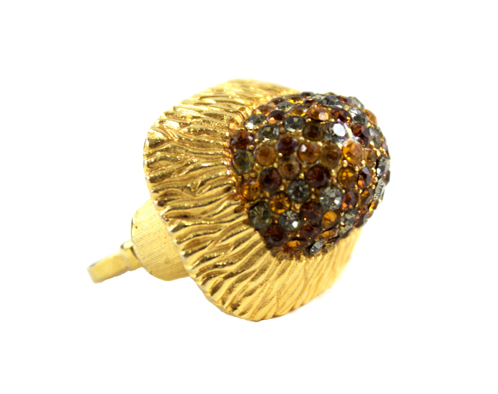 VENDOME GOLD & PAVE COCKTAIL RING
