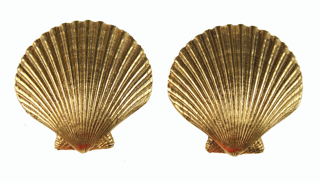 YSL GOLD SEASHELL EARRINGS
