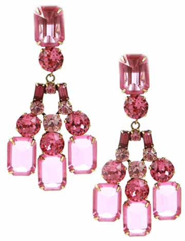 Schreiner Pink Earrings