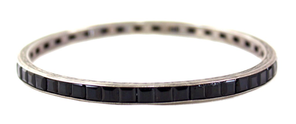 1930S BLACK CHANNEL CUFF BRACELET