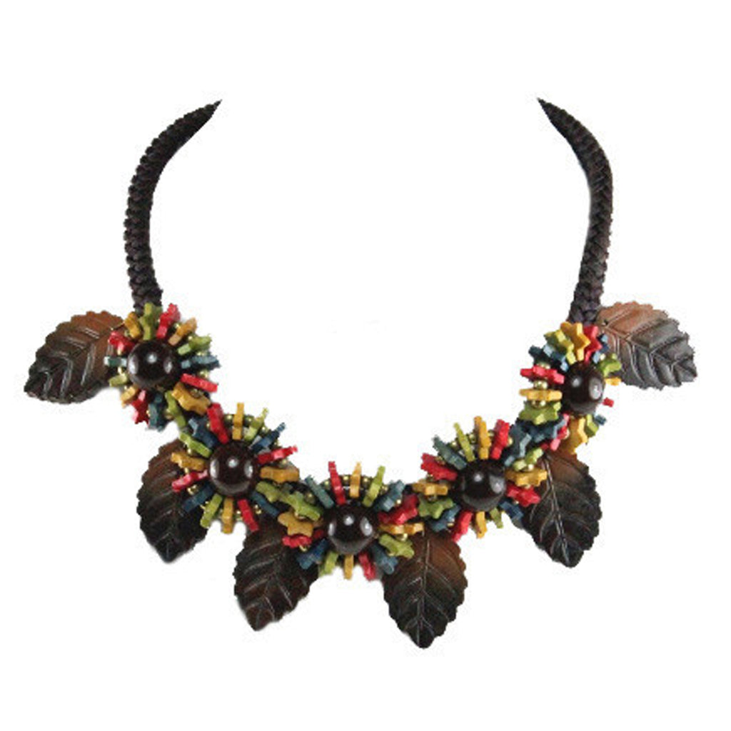 1950S UNSIGNED BROWN NECKLACE