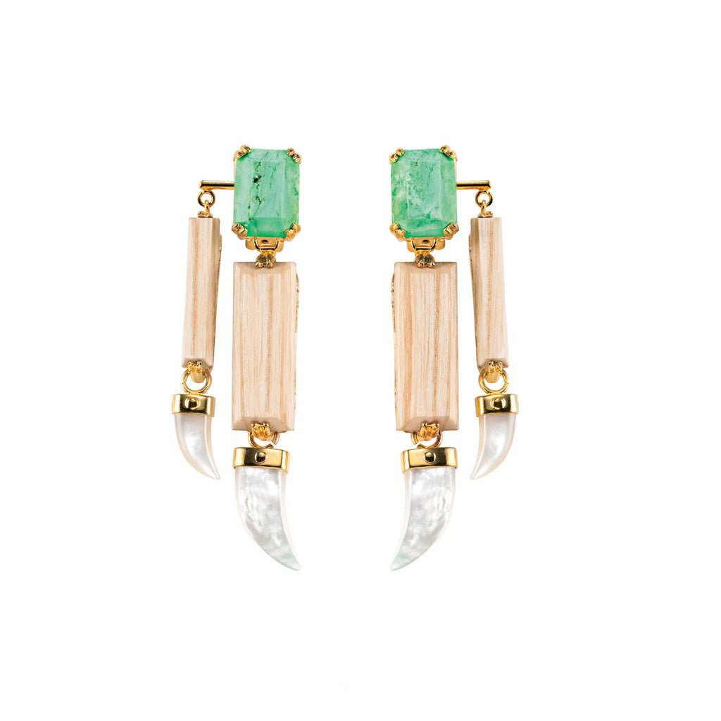 PARADISE COLLECTION <br/> EVERGLADES DOUBLE EARRINGS