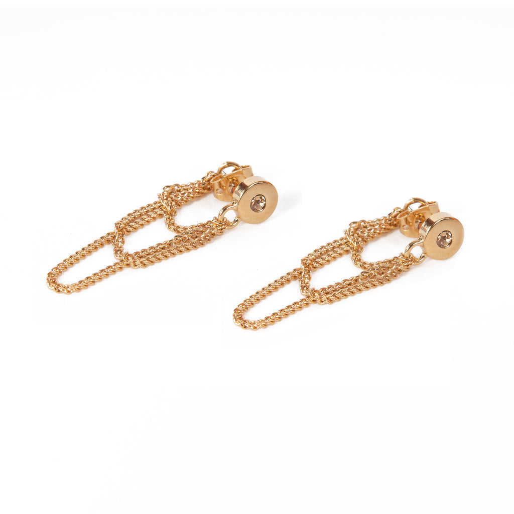 Greek Isles Hydra three-chain Earrings