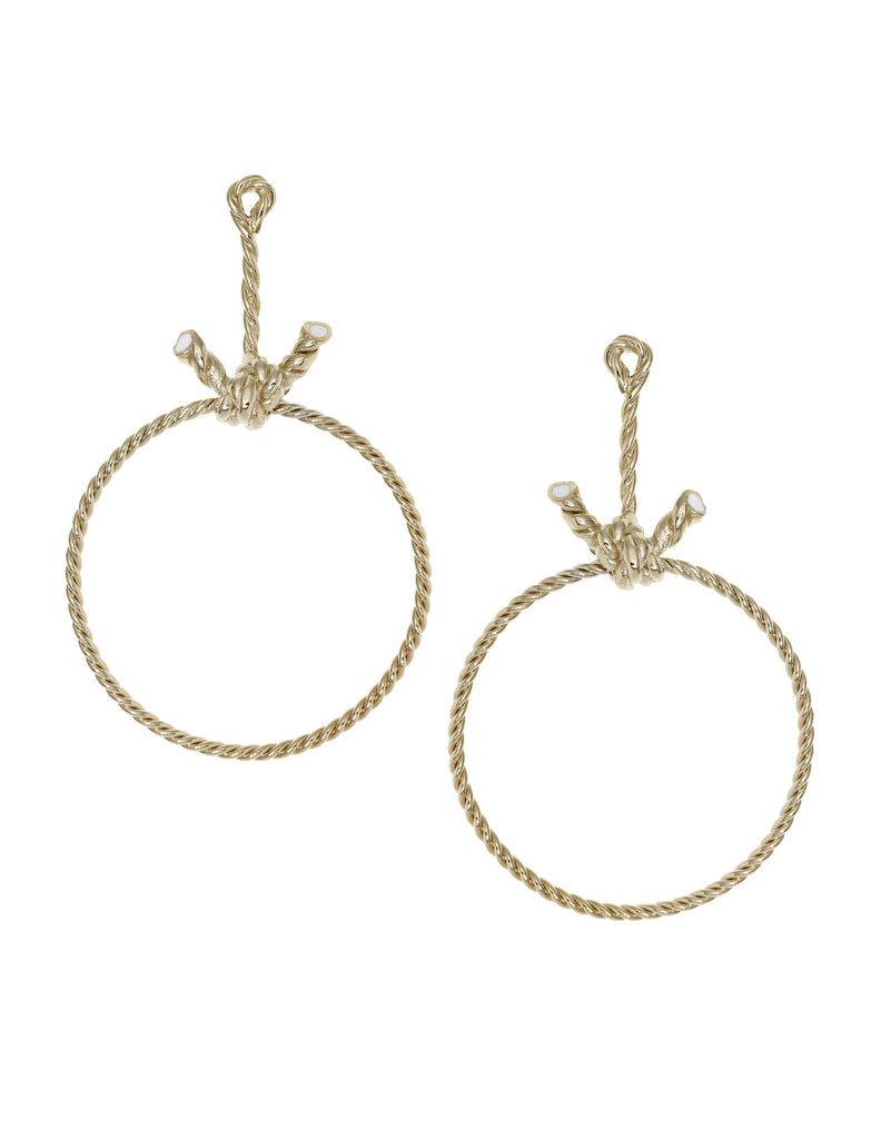 THE LURE OF THE SEA COLLECTION <br/> KNOT HOOP EARRINGS