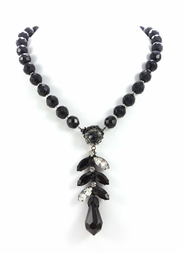 Miriam Haskell Jet Necklace