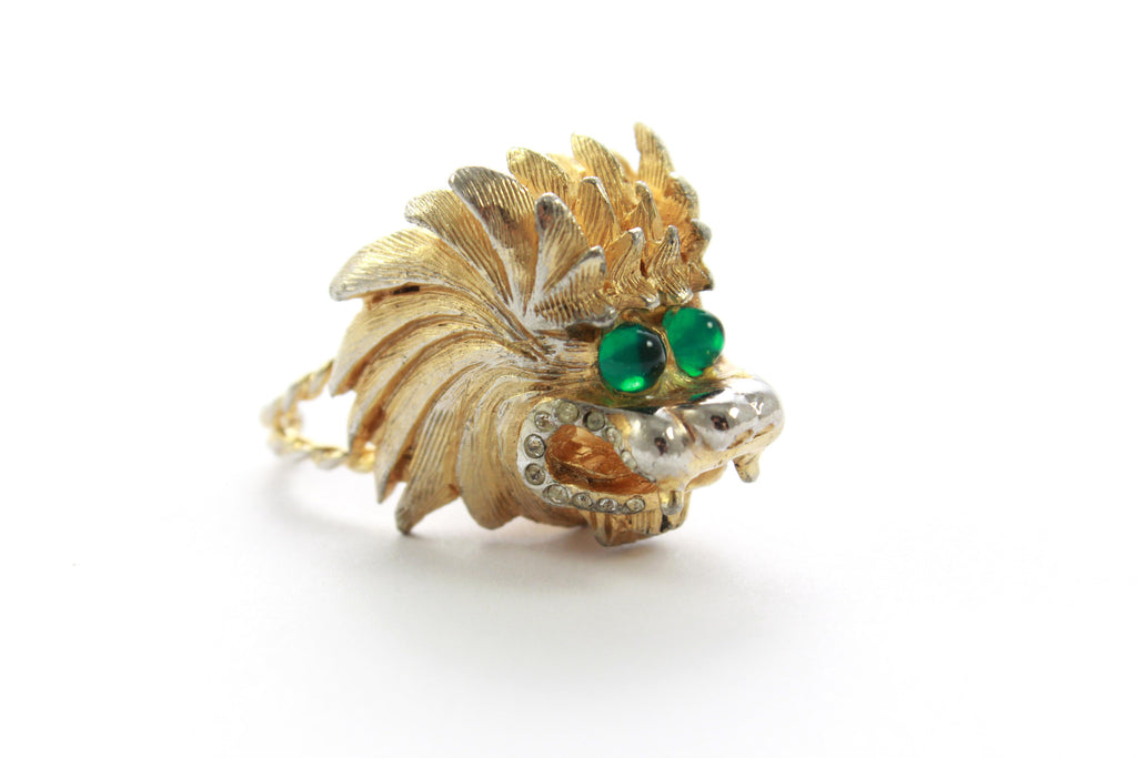 1950'S LION HEAD RING