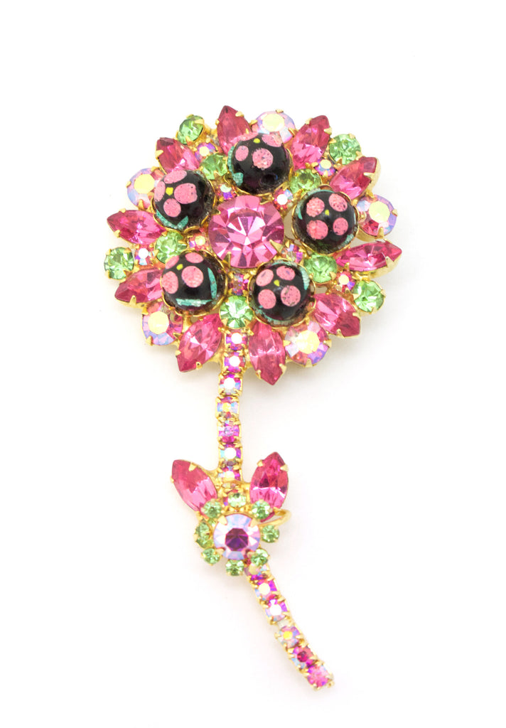 1950s Juliana Floral Pin