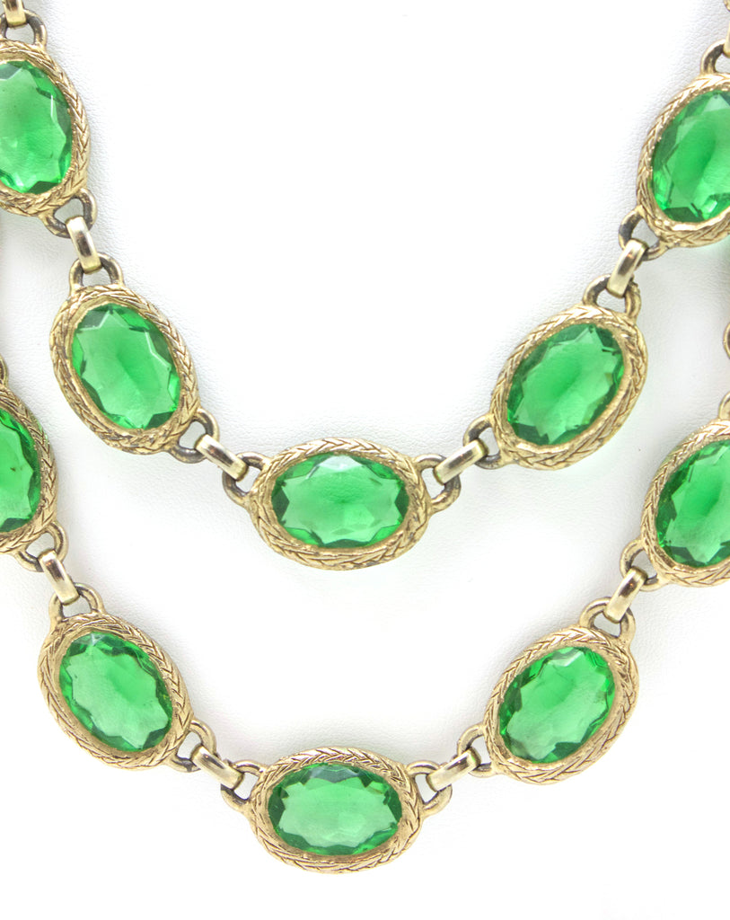 1950's Green Necklace