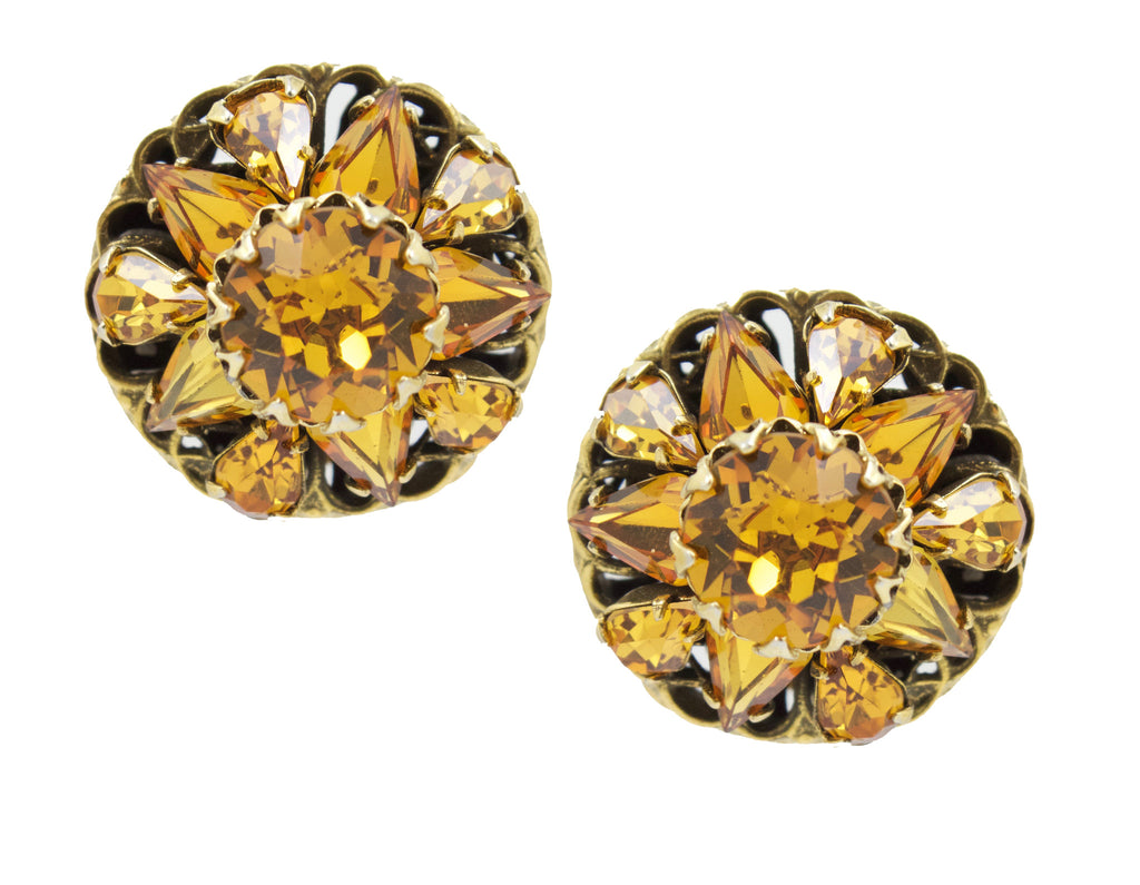 1950s Citrine Earrings