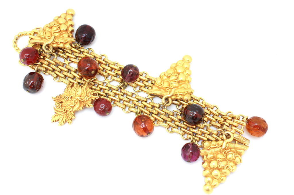 1970's Dominique Aurientis grape bracelet