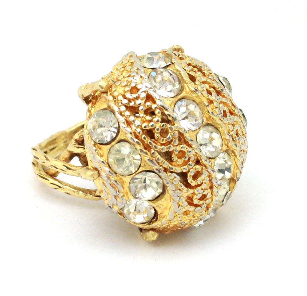 Gold tone dome ring