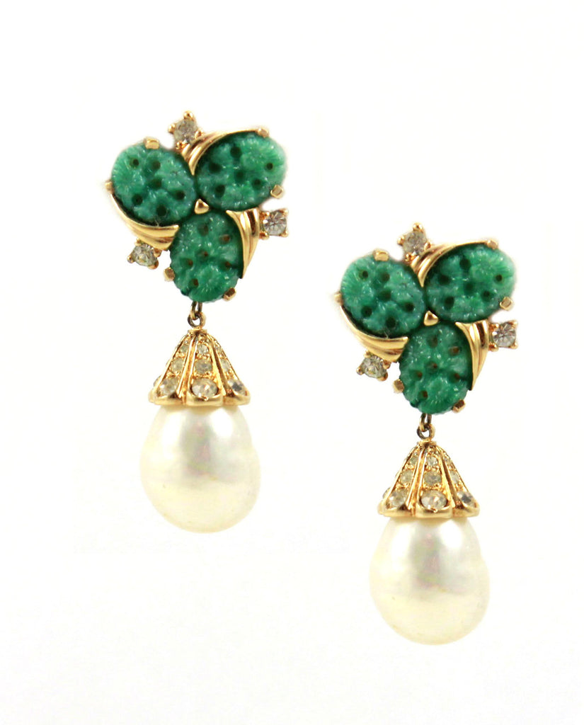 Jomaz Pearl Drop Earrings