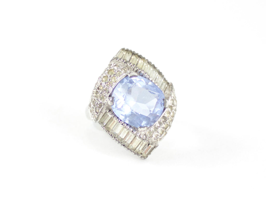 Mazer aquamarine cocktail ring