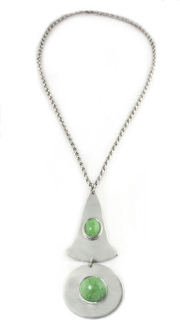 WHITING AND DAVIS SILVER PENDANT NECKLACE