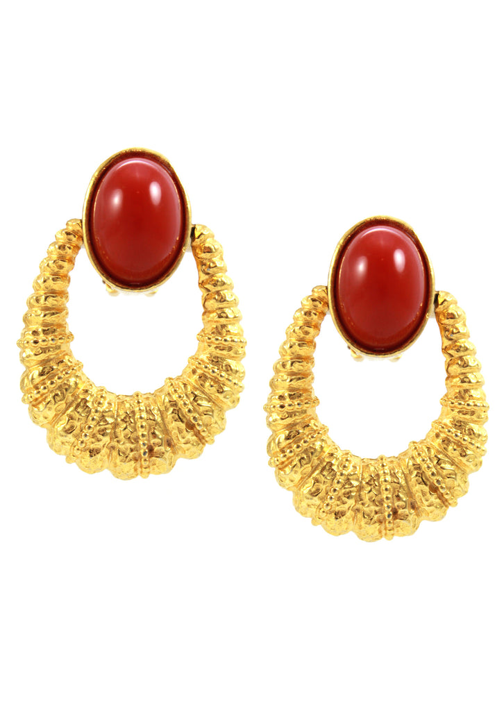 1960's KJL Gold Hoop Earrings