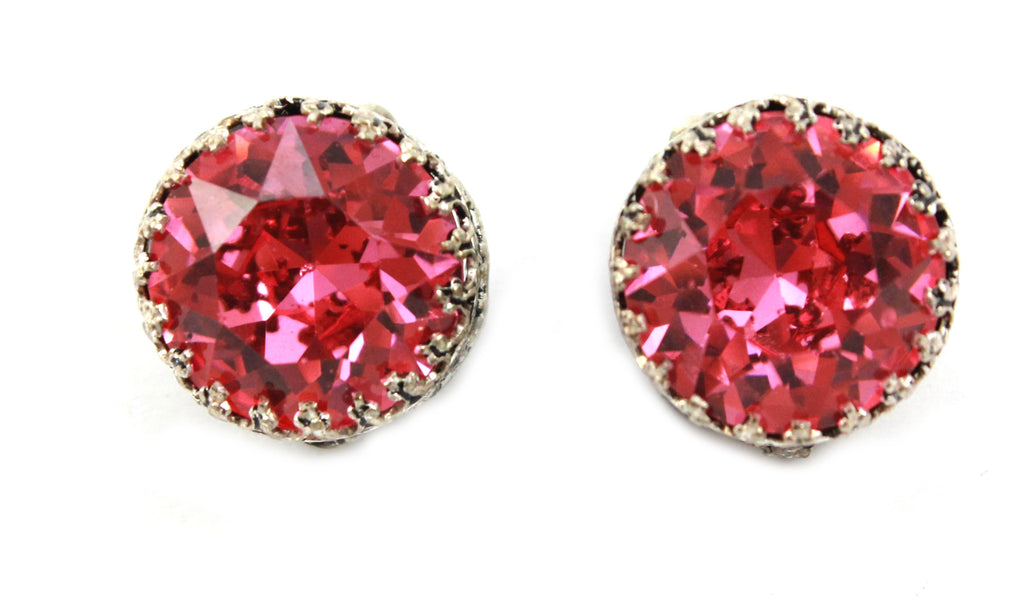 1950's Austrian Pink Earrings