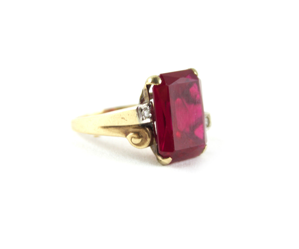 1940's Faux Ruby Ring