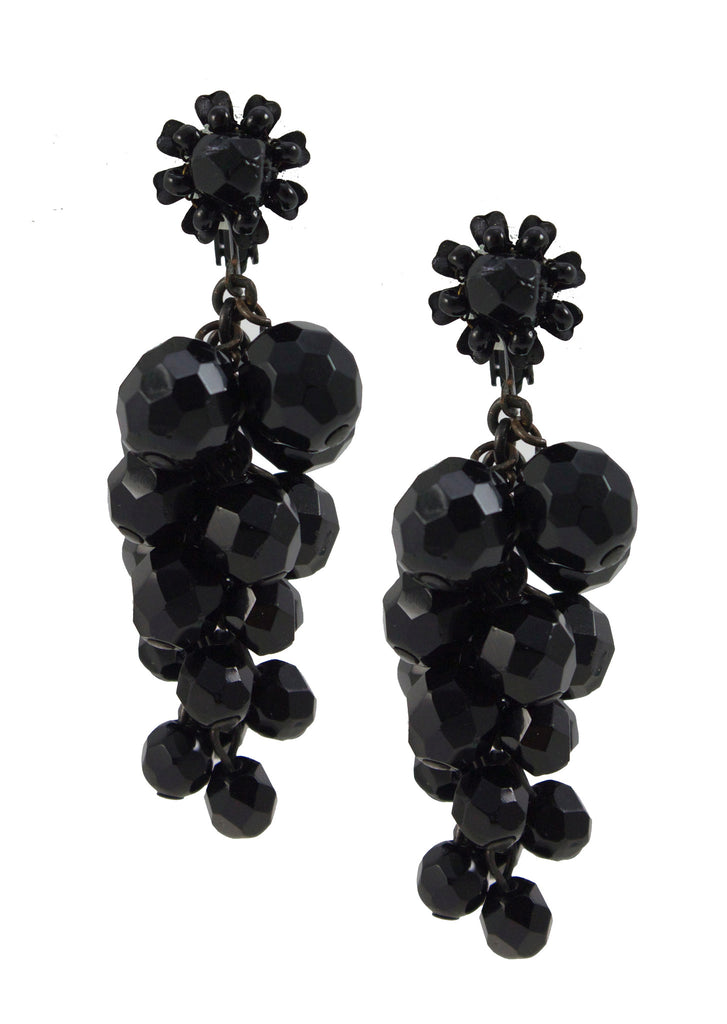 Miriam Haskell Jet Earrings