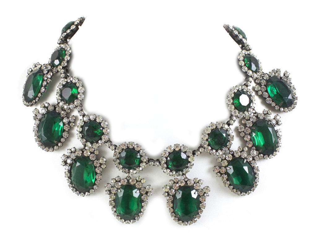 1960's KJL Emerald Necklace