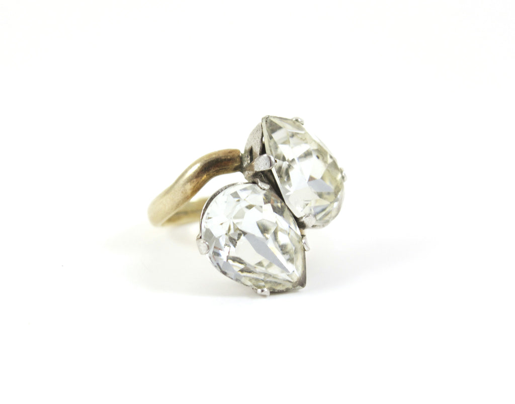 Gold Double Pear Ring